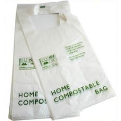 Compostable Carrier Bag, Checkout Bag, T-shirt Bag